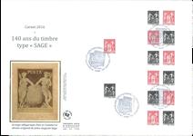 France - Grde Env.Carnet Sage 2016 EPJ - Env.premier jour