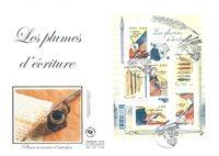 France - Grde Env.BF Plumes écriture16 - Env.premier jour