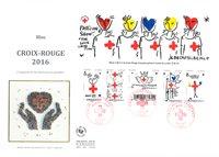 Frankrig - Red Cross 2016 FDC - Førstedagskuvert