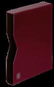 cajetín projoector para clasificadores, tapa de cuero acolchada, 32 páginas, rojo