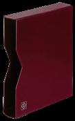 cajetín projoector para clasificadores, tapa de cuero acolchada, 64 páginas, rojo