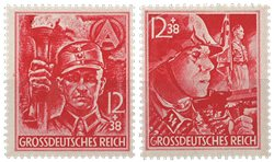 Tyske Rige 1945 - SA og SS - Postfrisk