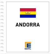 Andorra Española - Suplemento 2016 - Papel blanco estuches transperentes