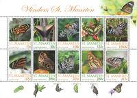 Saint-Martin - Papillons - Feuillet neuf
