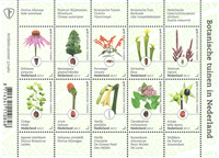 Netherlands - Botanical gardens - Mint souvenir sheet