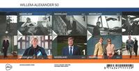 Holland - Willem-Alexander 50 år - Postfrisk miniark