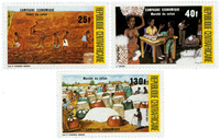 Centralafrika - YT 646-48 - Postfrisk