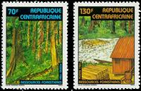 Centralafrika - YT 634-35 - Postfrisk