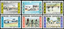 Centralafrika - YT 222-27 - Postfrisk