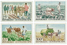 Centralafrika - YT 43-46 - Postfrisk