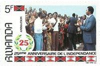 Rwanda 1987 - 25 ans d'indépendance - Timbre neuf
