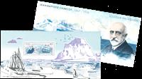 France - Charcot folder - Mint souvenir sheet in folder