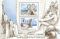 France - Joint issue with Canada - Mint souvenir sheet