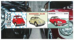 Danmark - Veteranbiler - Postfrisk miniark