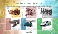 Hungary - The post celebrates 150 years - Mint souvenir sheet