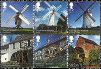 England - Vind- og Vandmøller - Postfrisk sæt 6v