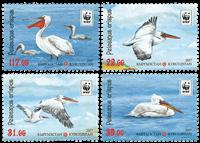 Kirgisistan - WWF Pelikan - Postfrisk sæt 4v