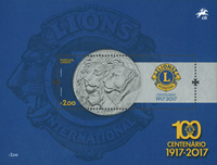 Portugal - Lions Club - Postfrisk miniark