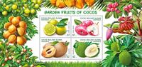 Coco Islands - Garden Fruits - Mint souvenir sheet