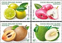 Cocos Øerne - Havens frugter - Postfrisk sæt 4v