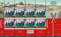 Switzerland - Brienz-Rothorn railway - Mint sheetlet 8v