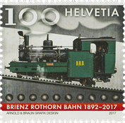 Switzerland - Brienz-Rothorn railway - Mint stamp