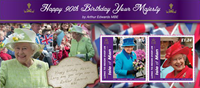 Isle of Man - Windsor Birthday promenade - Mint souvenir sheet