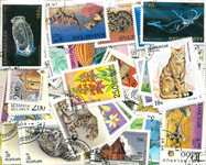 Uusia venäläisiä valtioita - 115 erilaista postimerkkiä ja 12 blokkia leim.