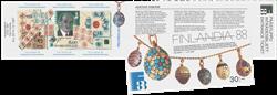 Finland - 1988 Fabergé hæfte med FINLANDIA 2017 overtryk - Postfrisk frimærkehæfte. Oplag kun 6.000 stk.