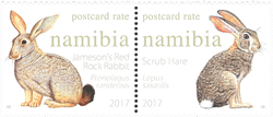 Namibia - Harer og kaniner - Postfrisk sæt 2v