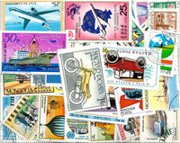 Transport - 100 different stamps