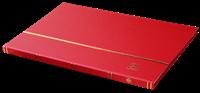 Clasificador DIN A4, 16 páginas blancas, tapa no acolchada ,rojo