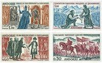 Andorre francais YT 167-70