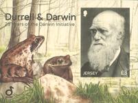 Jersey - Durrell & Darwin - Postfrisk miniark