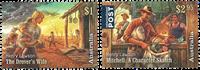 Australien - Henry Lawson - Postfrisk sæt 2v