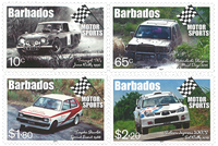 Barbados - Motor Sports 2017 * - Mint stamp