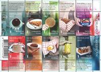 Holland - Gastronomi - Postfrisk ark 10v