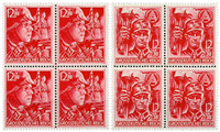 German Empire 1945 - Michel 909-10 - Mint blocks of 4