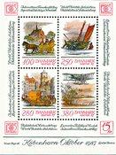 Danmark Hafnia 1987 miniark II - Postfrisk