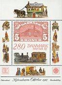 Danmark Hafnia 1987 miniark IV - postfrisk