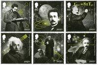 泽西岛新邮 , 爱因斯坦相对论原理, 套票 - 套票