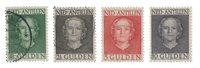 Hollandske Antiller 1950 - NVPH 230-233 - Stemplet