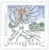 法国邮票 2016 珠宝工艺 1枚 外国邮票 邮票收藏