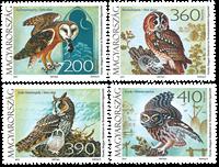Ungarn - Ugler - Postfrisk sæt 4v