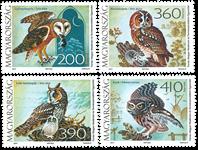 Hungary - Owls - Mint set 4v
