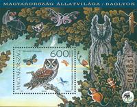 Hungary - Owls - Mint souvenir sheet