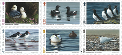Isle of Man - Coastal Birds - Mint set 6v