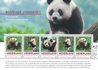 Pays-Bas - Pandas - Feuillet 5v