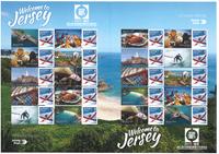 Jersey - Bienvenue à Jersey, Chine - Bloc-feuillet d'expo neuf