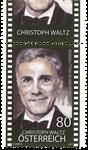 Østrig - Christoph Waltz - Postfrisk frimærke